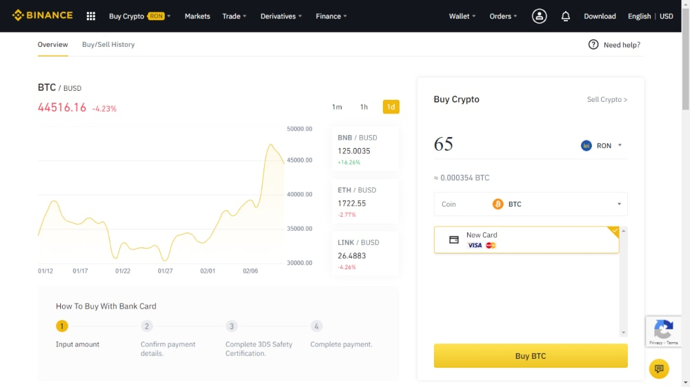 cumpara bitcoin prin binance